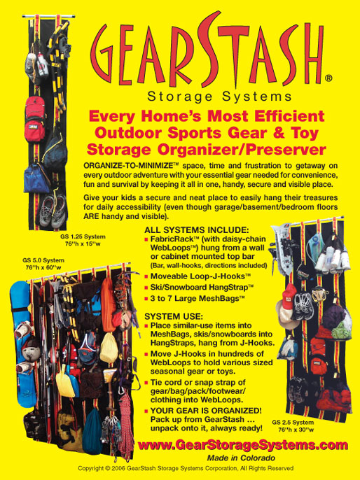 Gearstash Gear Storage Systems Organizers. Outdoor Sports Equipment Storage